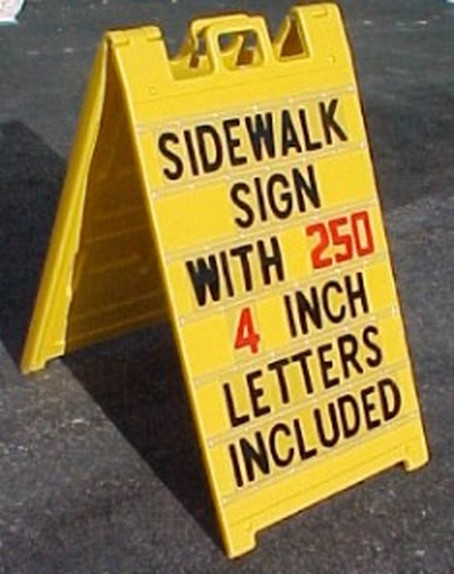 inch letters for changeable sidewalk signs heavy duty 2 sided a frame 25 quot x45 quot message board sidewalk 2